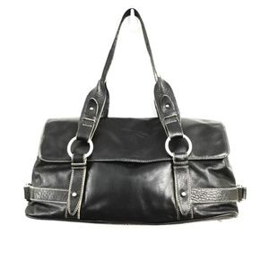 Kenneth Cole New York Black Leather Satchel Bag
